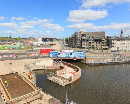 Constructiebrug Spoorzone Delft